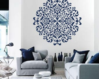 Attractive Mandala Moroccan Stencil Moroccan Pattern For DIY Wall Decor Modern Home  Stencils Mandala Wall Art Yoga Studio Floral Decor #s014
