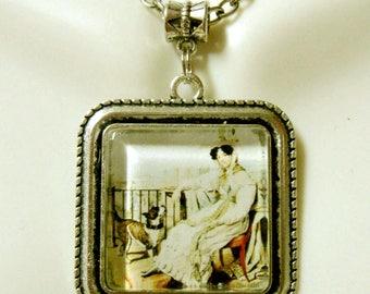 Pitbull companion dog pendant and chain  pendant with chain - DAP05-131