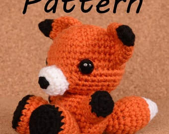 Rox the Fox Crochet Toy Doll Pattern
