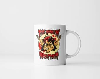 The Howlin' Wolfmen 11oz Coffee Mug - Halloween Mug, Wolfman Mug, Werewolf Mug, Wolf Mug, Universal Monsters Mug, Horror Mug