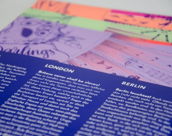 """Gift wrapping paper """"Berlin-London-Venice-Bundle"""" – 2017 edition"""