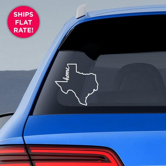 Texas state home decal tx home car vinyl sticker