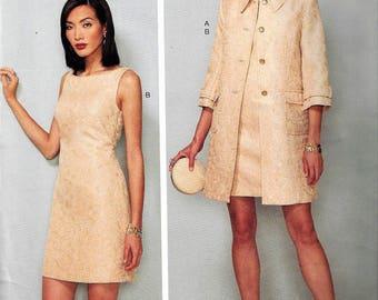 KAY UNGER NY for Vogue Pattern #v1537~American Designer~Misses Sz 6-14~Misses Princess Seam Jacket and V-Back Dress with Straps~New