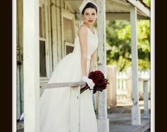 1950s Wedding Dress 'MARISOL'