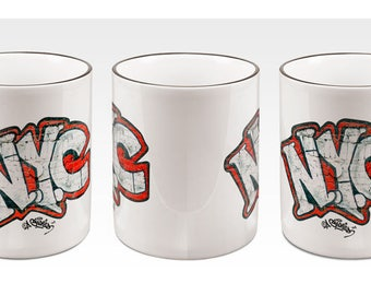 Andre Charles NYC Graffiti 15oz. Mug