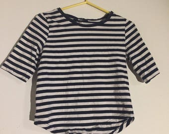 Stripped t shirt, xs black and white