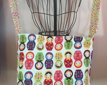 Russian Stacking Doll Tote bag handmade