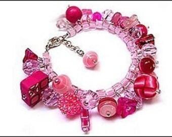 Make Fringe Bracelets / Cluster Fringe Bracelets / Charm Bracelets -- ebook tutorial instructions DIY