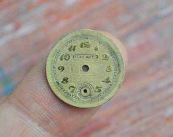 0.7 inch Vintage little wrist watch face, dial.