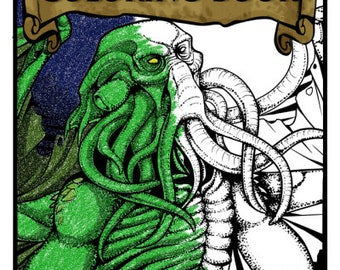Eldritch HP Lovecraft Coloring Book Ouka Love