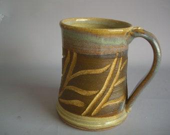 Hand thrown stoneware pottery beer mug   (BM-10)