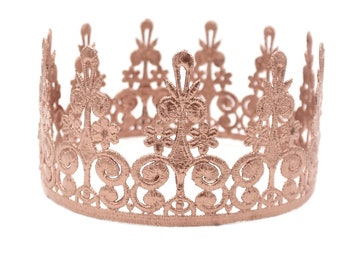 Elle Lace Crown || Ready to Ship || Copper full size lace crown || photography prop|| Toddler-Adult