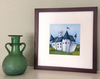 White Castle Signed Archival Print From Original Watercolor