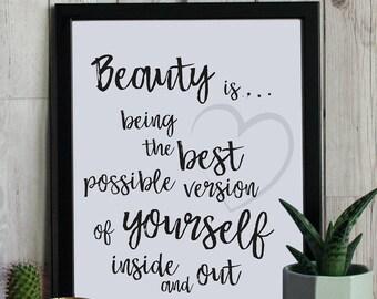 Beauty is... - Framed Prints, Bespoke Design, Cards & Gifts