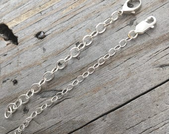 Sterling Silver Chain Extension 3 inch Sterling Silver Jewelry Findings