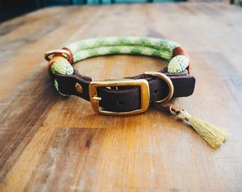 Dog collar climbing rope, adjustable, handmade-shopname: Pawsome Dog Accessories