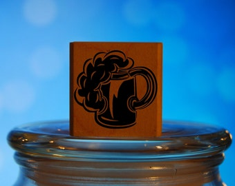 Beer Mug Stamp Mounted Wood Block Art Stamp