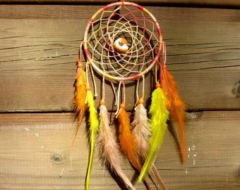 "Dream catcher ""bird's nest"" / Orange tones / real 30 cm"