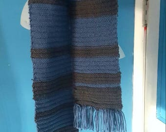 Blue and Gray Scarf