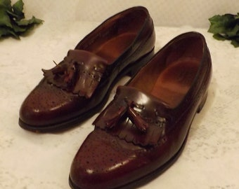 Hanover Shoes Oxblood Fringe Tassel Loafers Mens Shoes Size  10.5