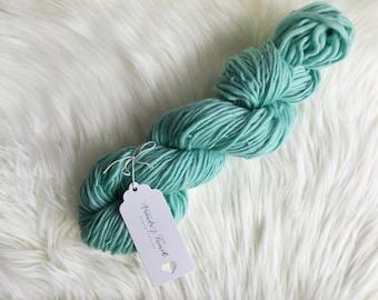 2.9 oz Pale Turquoise Handspun Merino Wool Yarn, 110 yds