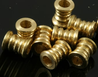 15 pcs raw brass cylinder 7x6 mm (hole 3,3 mm) industrial brass charms, pendant, findings spacer bead bab3.3 1530