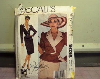 Two patterns from Dynasty, Joan Collins patterns from Mc calls