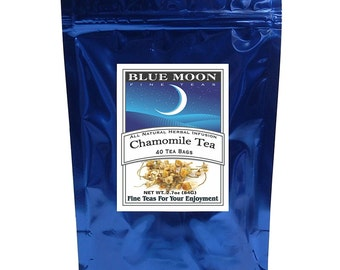 Sachets de thé de camomille, 40 Pack