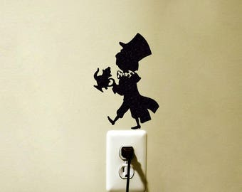 Mad Hatter Vinyl Decal Sticker Light Switch Wall Home Decor