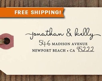 Custom Address Stamp, FREE SHIPPING with PROOF, Self Ink Return Address Stamp, Personalized Address Stamp, Self Ink Custom Address Stamp 397