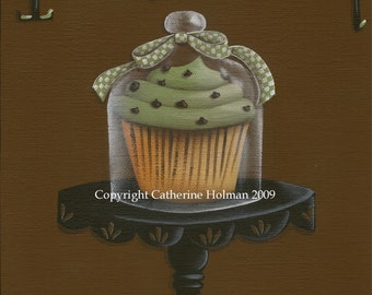 Cupcake Art Print Irish Cream