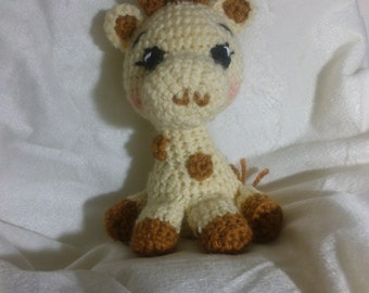 Crochet giraffe rattle Any Colors You Want