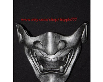Half cover Hannya Kabuki mask, Airsoft mask, Halloween costume & Cosplay mask, Halloween mask, Steampunk mask, Wall mask, Samurai MA127 et
