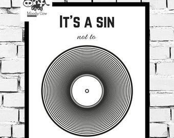 Vinyl Record Art Music Prints | Printable Music Art | Instant Download | Music Decor | Music Wall Art | Digital Download | Music Lover |