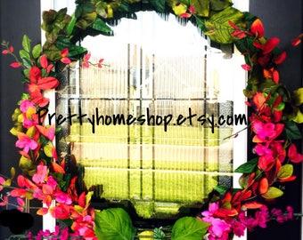 Unique Front Door Wreaths, Modern Wreath, Beautiful Front Door Wreaths, Contemporary  Wreath,