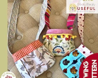 Itty Bitty Bag, small purse, sewing pattern, pdf pattern, tiny purse pattern