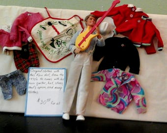 Vintage Ken doll and clothes