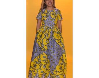 Short sleeve Maxi dress.