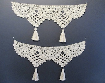 crocheted vintage trim with tassels