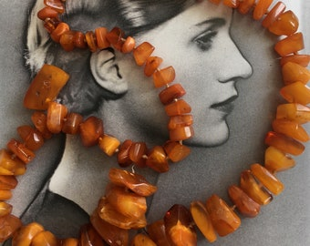 Vintage Baltic Amber Necklace Repair 132g