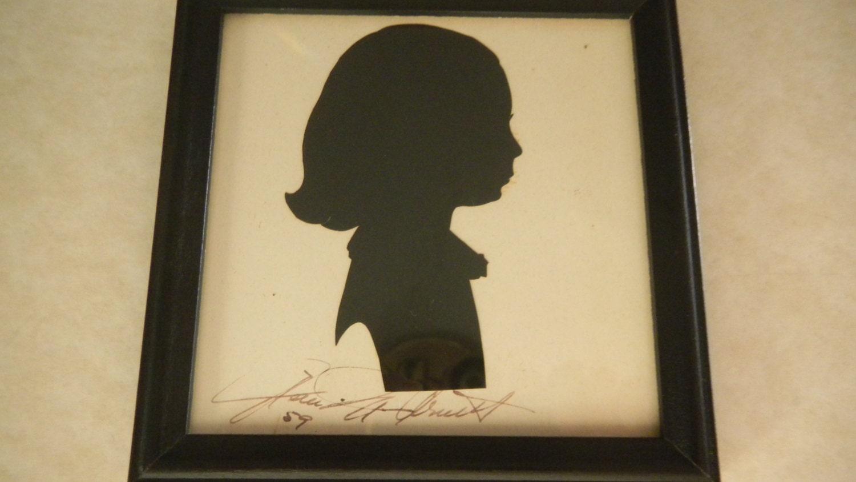 Silhouette Portrait Portrait Silhouette Vintage Folk Art