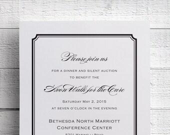 Dinner Invitation, Charity Invitation, Luxury Invitations