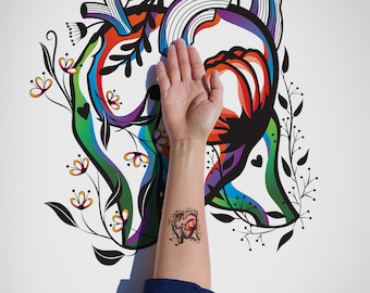 Pablo Neruda Love Poem Sonnet XVII, Valentine Edition temporary Tattoo /Love Temporary Tattoo /Valentine Temporary Tattoo /Love story Tattoo
