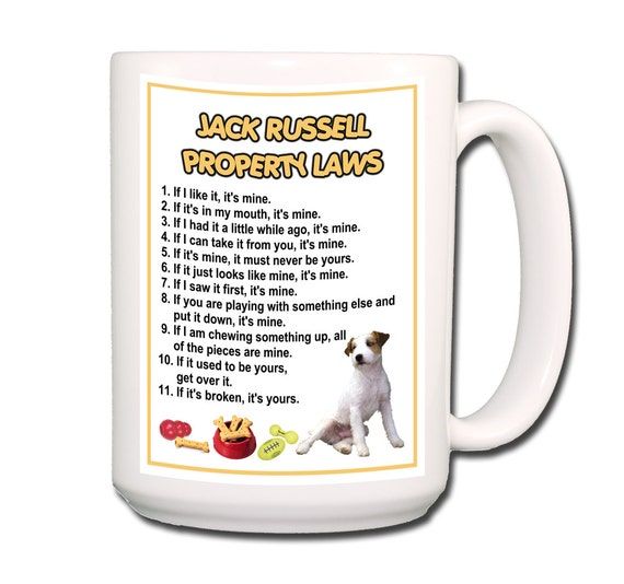 Jack Russell Terrier Property Laws 15 oz Large Coffee Mug