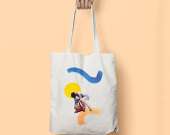 "Tote bag ""Dancers on waves"""