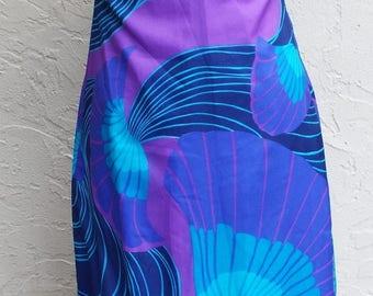 Vintage Sleeveless Floral Print Dress by Tahiti Imports