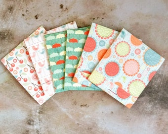 Assorted Matchbook Notebooks, Mini Notebooks, Mini Notepads, Notepads, Pocket Notepad, Floral Notebook, Matchbook Favors, Party Favors