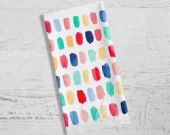 Brush Strokes Towel |  Brush Strokes Dish Towel | Kitchen Towel | Towel | Watercolor Brush Strokes | Tea Towel | Dish Towel | Dishcloth