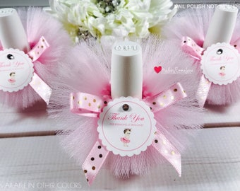 Great 10 Princess Baby Shower Favors|Baby Shower Favors|Nail Polish Tutus|Nail  Polish Favors|Baby Shower Tutu Theme|Pink And Gold Favors|Favors