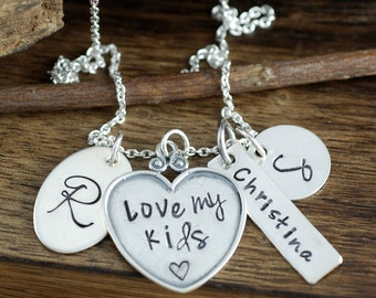 Mother's Necklace, Personalized Mom, Gift for Mom, Family Necklace, for Mom, Mothers  Day Gift, Initial Necklace, Gift for her
